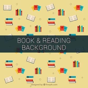 いくつかの着色された書籍の背景