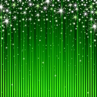 きらめきと緑の縞の背景