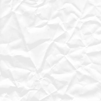 Фон квадратного листа белой мятой бумаги