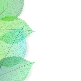 Background of stylized green leaves