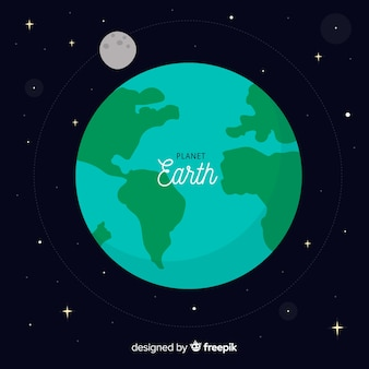 Background of the earth in the universe