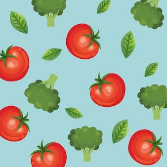 トマトとブロッコリーの背景