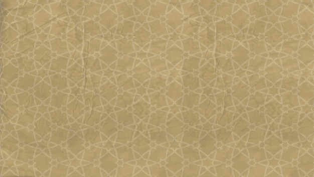 Background - oriental pattern with islamic stars, arabic ornament on old paper