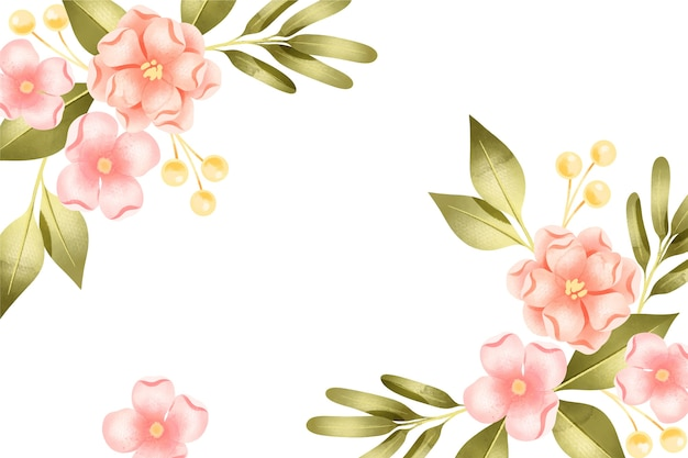 Background pastel colors watercolor flowers