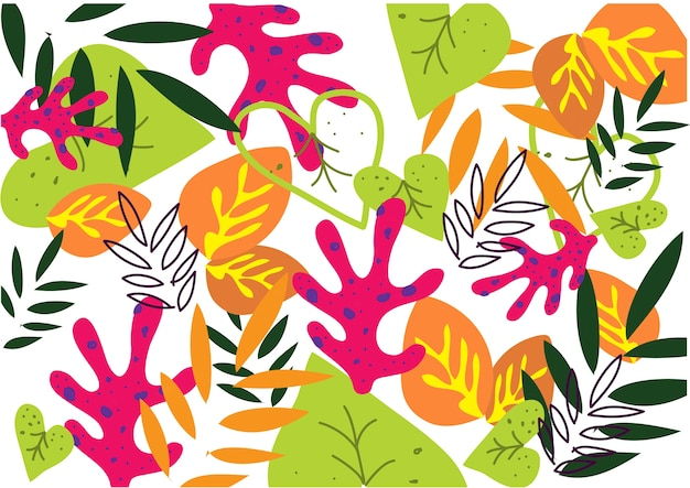 Background pattern abstract  fullcolor leaf