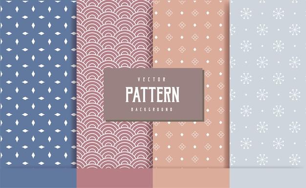 背景パターン幾何学的なシームレスコレクション