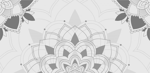 Background pattern of mandala in gray