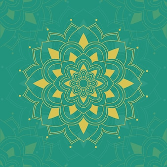 Background pattern mandala on green