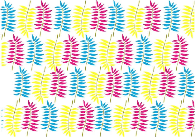 Background pattern neon color leaf tidy