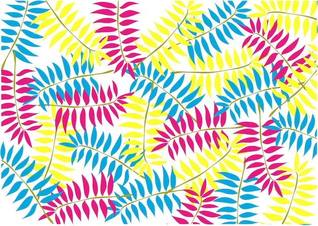 Background pattern neon color leaf