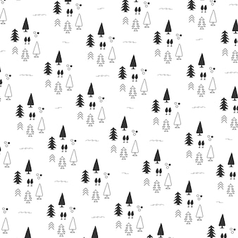 Background pattern with christmas tree