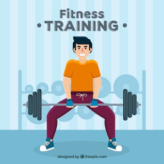 Background of people training to get healthy