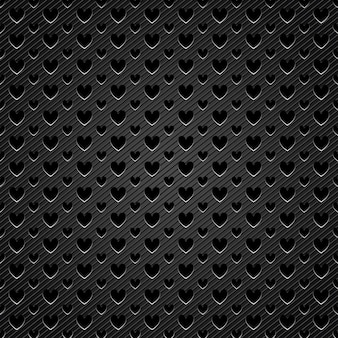 Background perforated shape with heart shape
