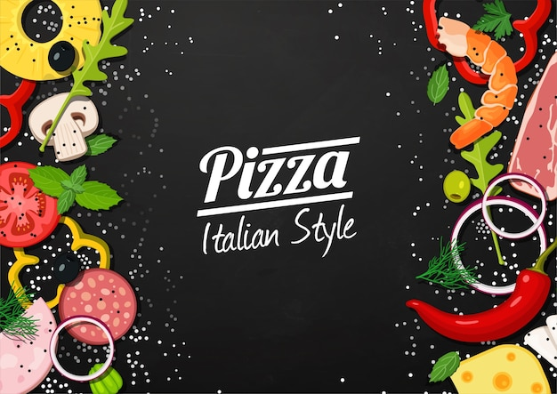 Background for pizza menu