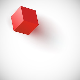 Background for presentations with red cube