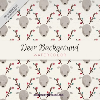 Background of pretty watercolor deer