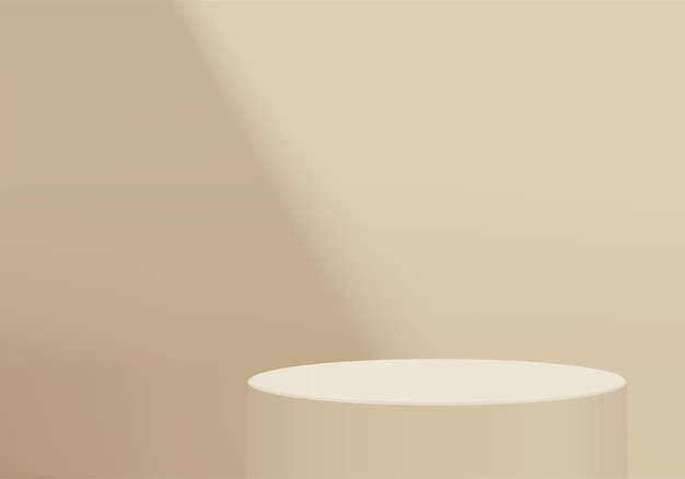 Фон продукты отображают сцену подиума с геометрической платформой. рендеринг фона с подиумом. стенд для демонстрации косметической продукции. сценическая витрина на пьедестале желтая студия