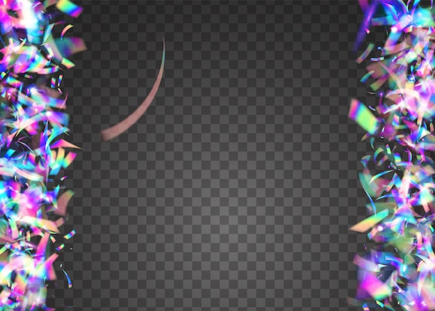 Background. purple disco tinsel. holographic glitter. glitch effect. shiny element