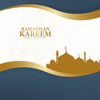 The background of ramadhan kareem in a luxurious style of