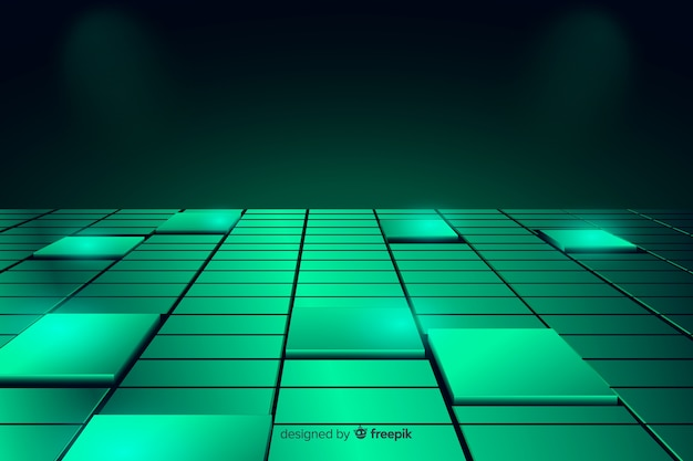 Background realistic cubes floor