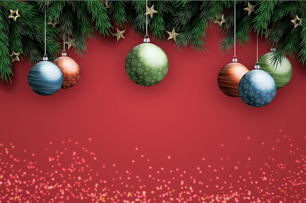 Background realistic decoration christmas