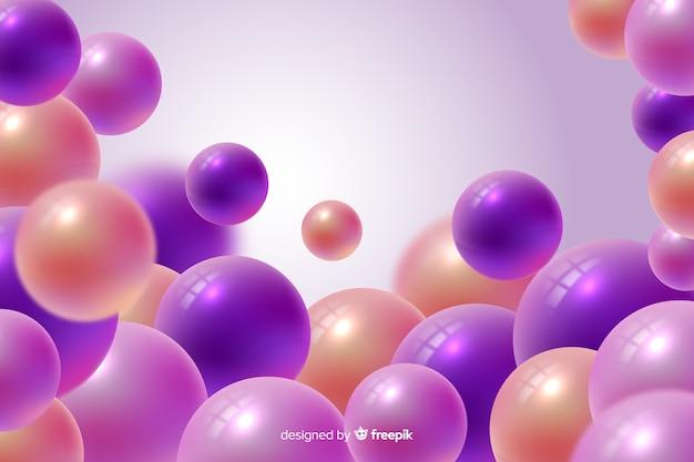 Background realistic glossy plastic balls