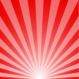 Background red color of sunrise with sunbeams. illustration