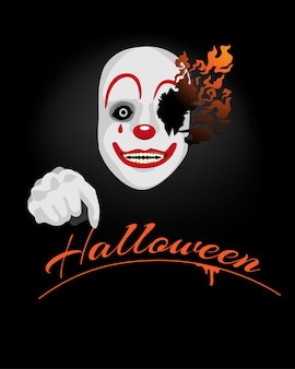 Background scary clown for halloween