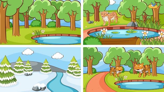 Background scenes of animals in the wild