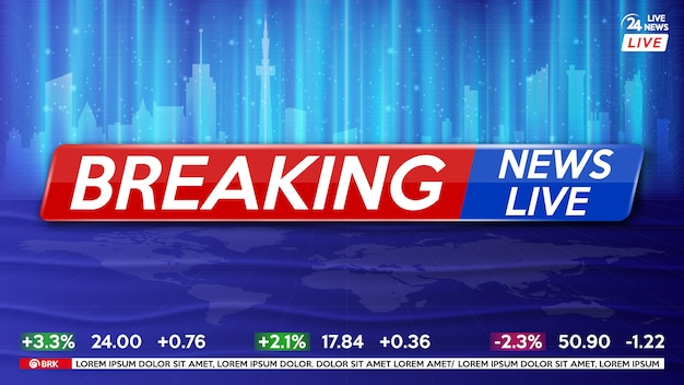 Background screen saver on breaking news. breaking news live.