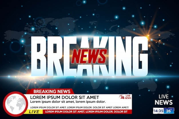 Background screen saver on breaking news