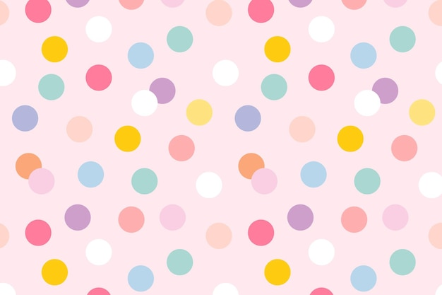 Background seamless pattern  with cute pastel polka dots