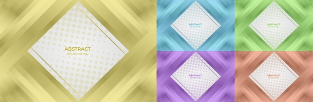 Background set geometric gradient color yellow, blue, green, purple and orange abstract style. vector illustration