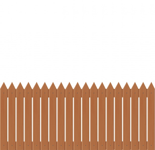 Иллюстрация деревянный забор на белом background.set иконки забор из иллюстрации