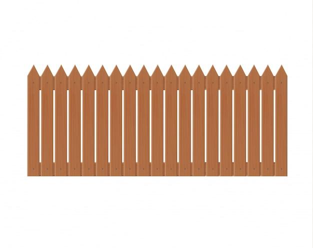 Иллюстрация деревянный забор, изолированных на белом background.set забор из иллюстрации