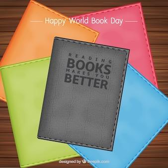 Sfondo di diversi libri colorati