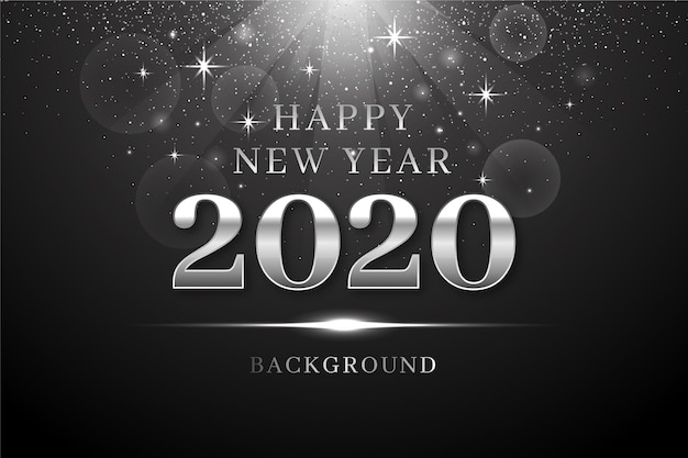 Background silver new year