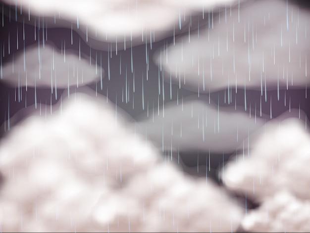 Background sky on rainny day