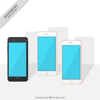 평면 디자인의 배경 아이폰 7