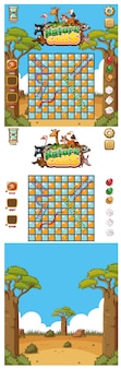 Background for snake and ladder game with nature
