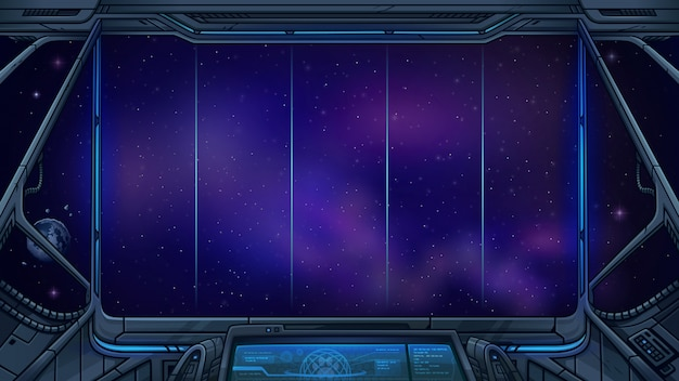 Background for space slot game