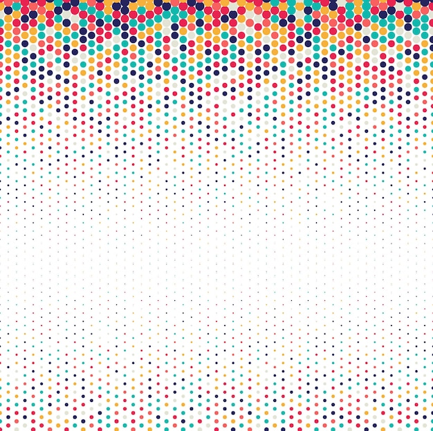 Background of spots colorful halftone design