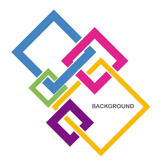 Background square colorful
