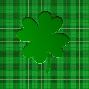 Background for st. patrick's day with lucky clovers