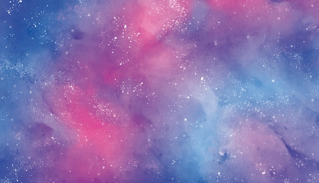 Background stellar sky in watercolor
