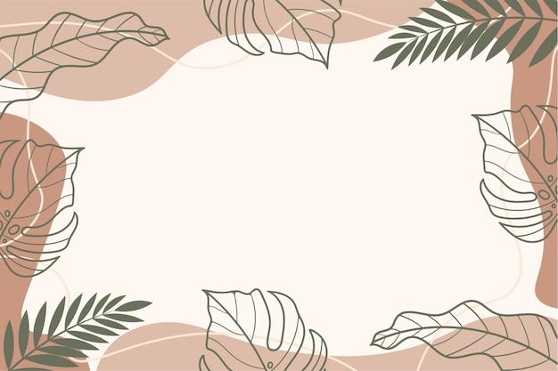 Background summer tropical leaf vector