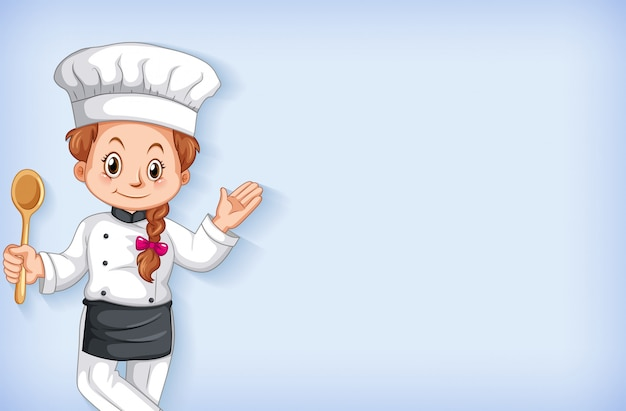 Background template design with happy chef smiling