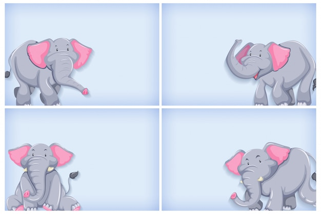 Фон шаблон дизайна с простым цветом и слоном