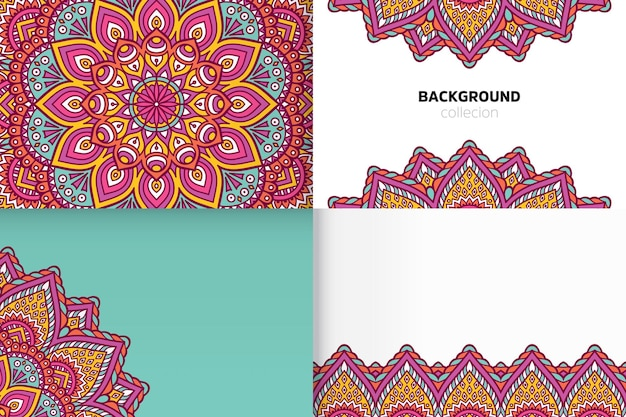 Background template in ethnic style