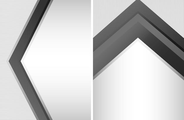 黒と白の背景テンプレート